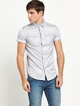 883 Police Mens Oblivion Stripe Shirt - Black/White