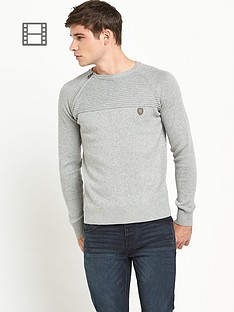 883-police-mens-morgan-jumper-marl-grey