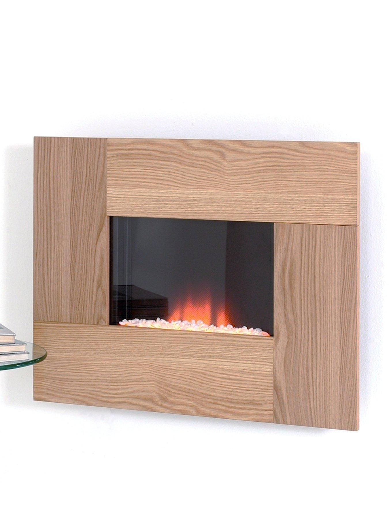 Nexus Oak Wall Mounted Electric Fire