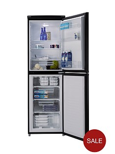 candy-csc1745be-55cm-fridge-feezer-black