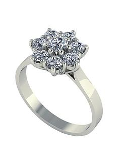 moissanite-9-carat-white-gold-1-carat-8-stone-cluster-ring