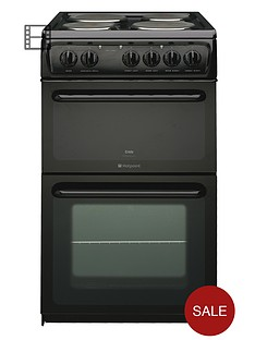hotpoint-hw170eks-50cm-twin-cavity-electric-cooker-black