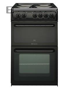hotpoint-hw170eks-50cm-twin-cavity-electric-cooker-black