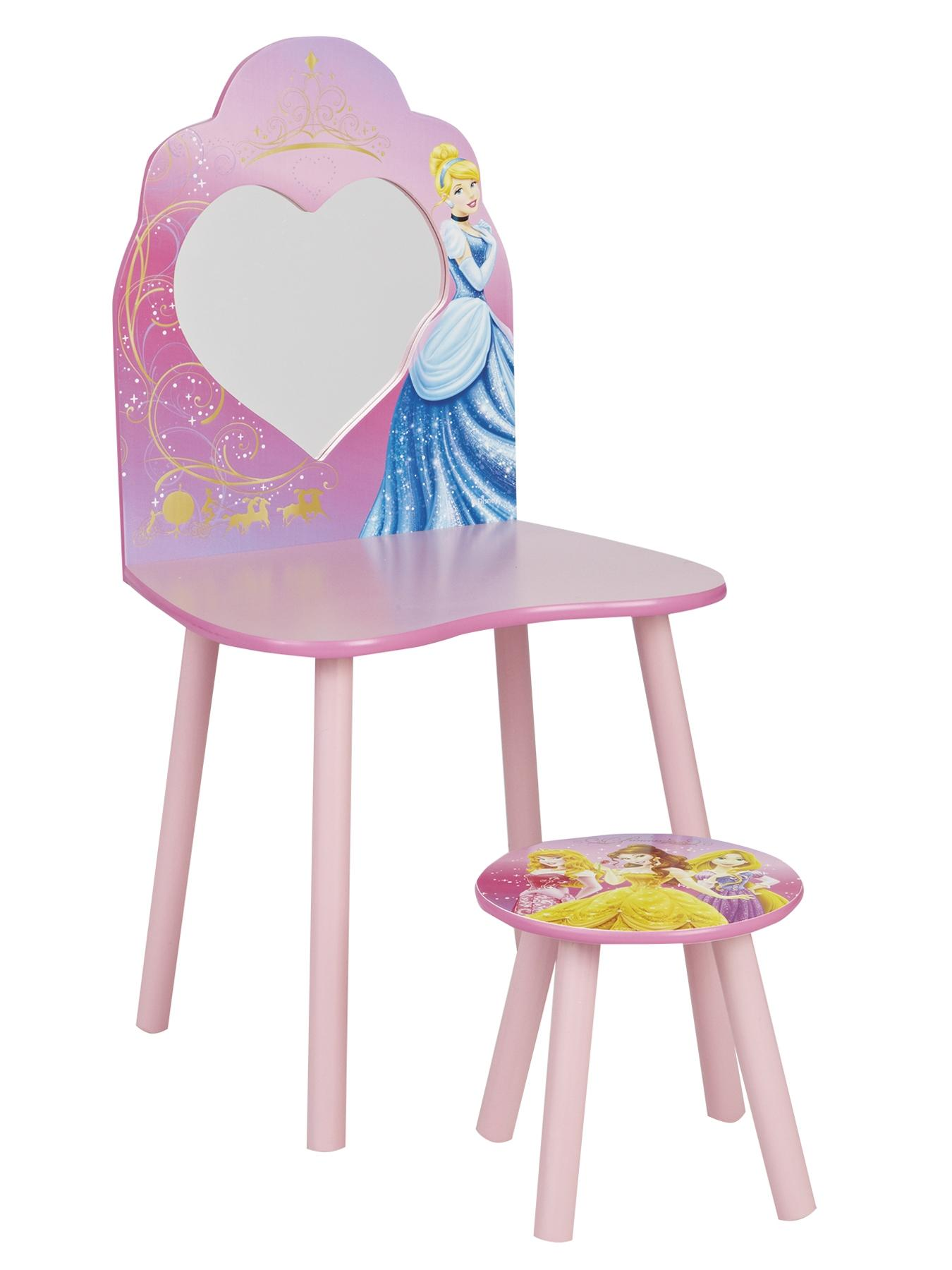Vanity Dressing Table and Chair, Pink