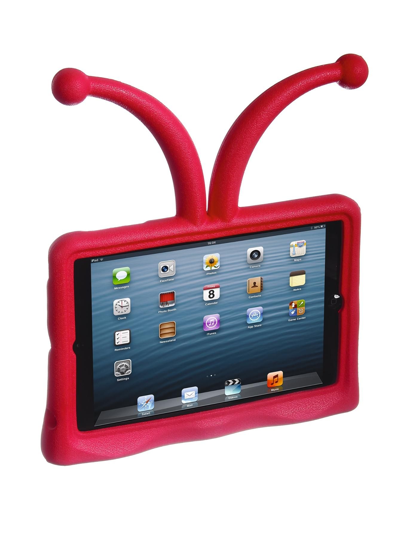 Antennae Protective Child Friendly Stand Case for iPad Mini - Red