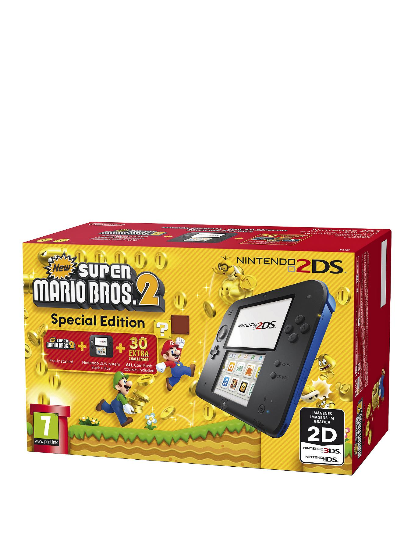2DS Black and Blue Console