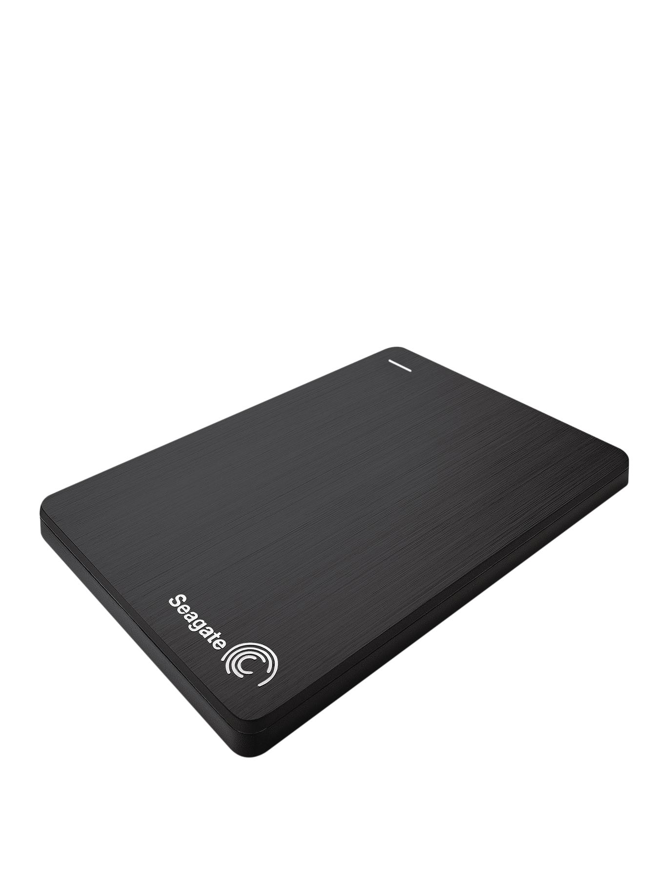 Slim 500Gb External Portable Hard Drive - Black