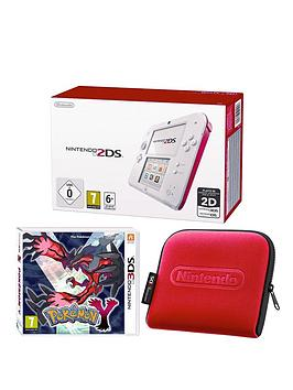 nintendo-2ds-red-and-white-console-with-pokemon-y-and-2ds-case