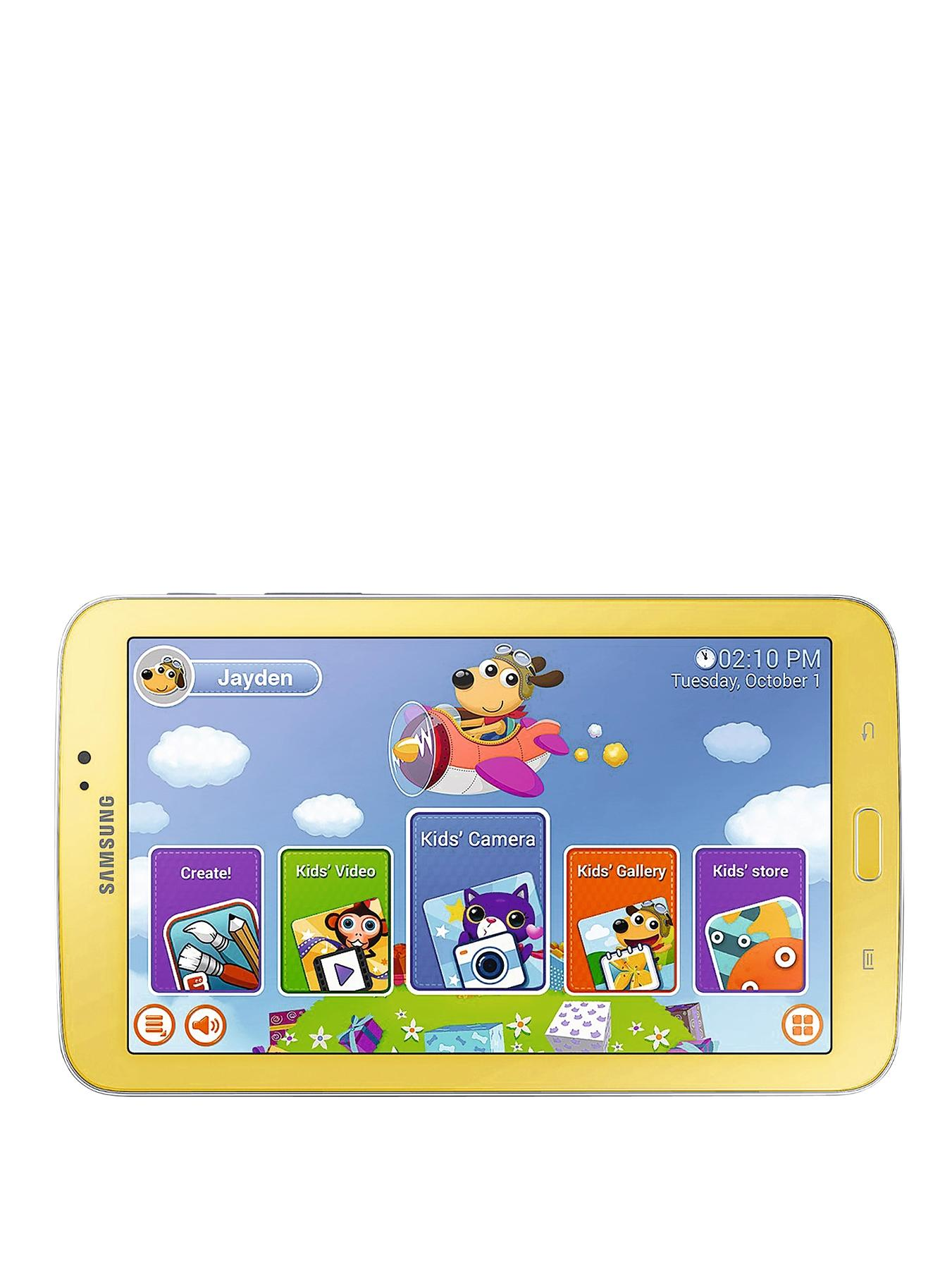 Galaxy Tab 3 Kids Dual Core Processor, 1Gb RAM, 8Gb Storage, Wi-Fi, 7 inch Tablet - Yellow, Yellow