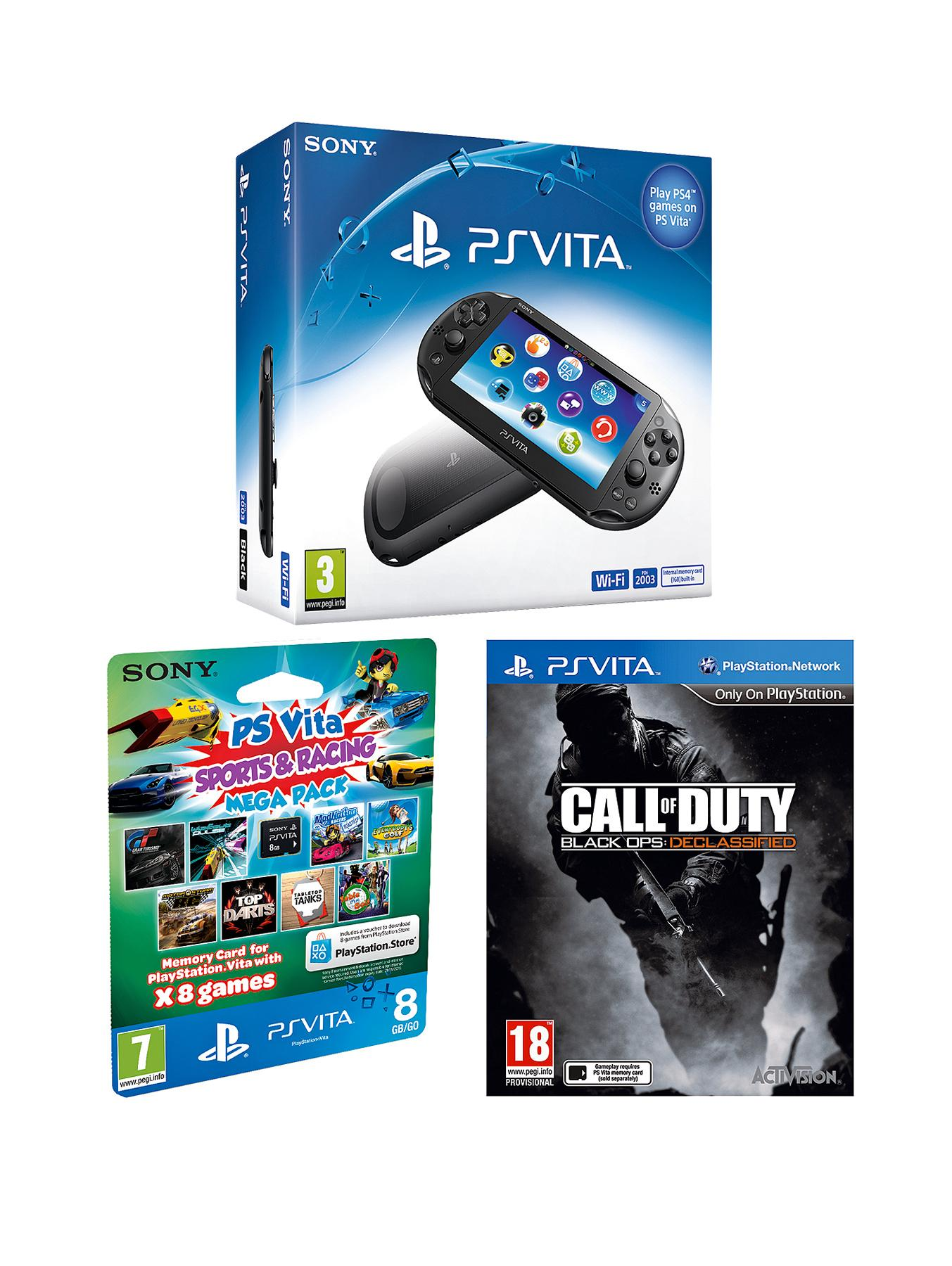 Slim Console with Call of Duty: Black Ops: Declassified and FREE 8Gb Sports and Racing Mega Pack