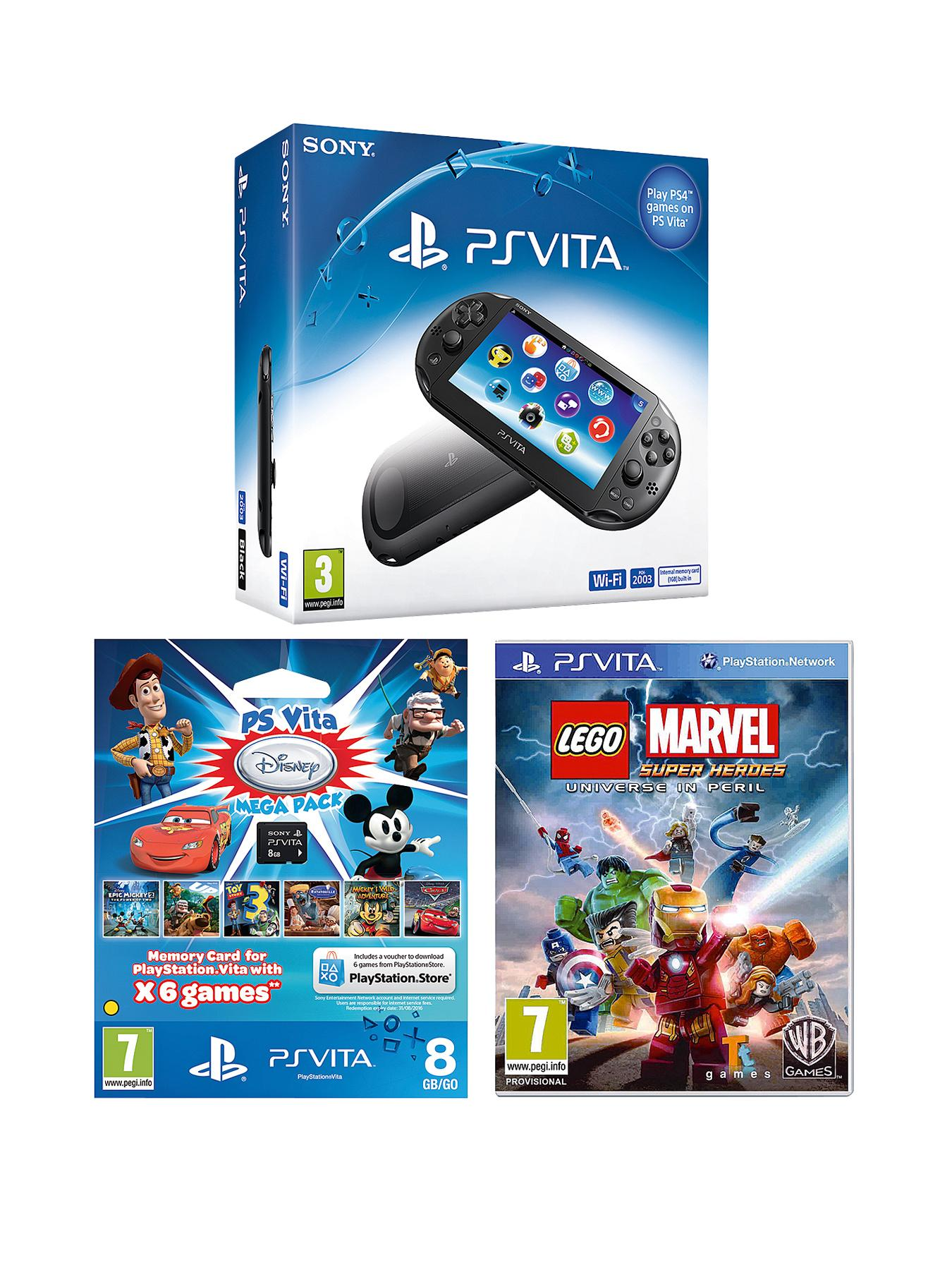 Slim Console with Lego: Marvel Super Heroes and FREE 8Gb Disney Mega Pack