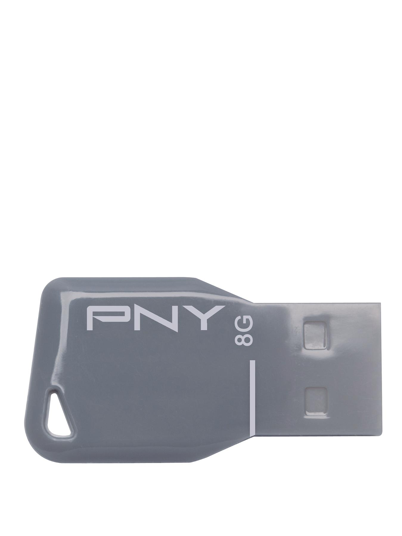 8Gb Key Attache USB - Grey, Grey