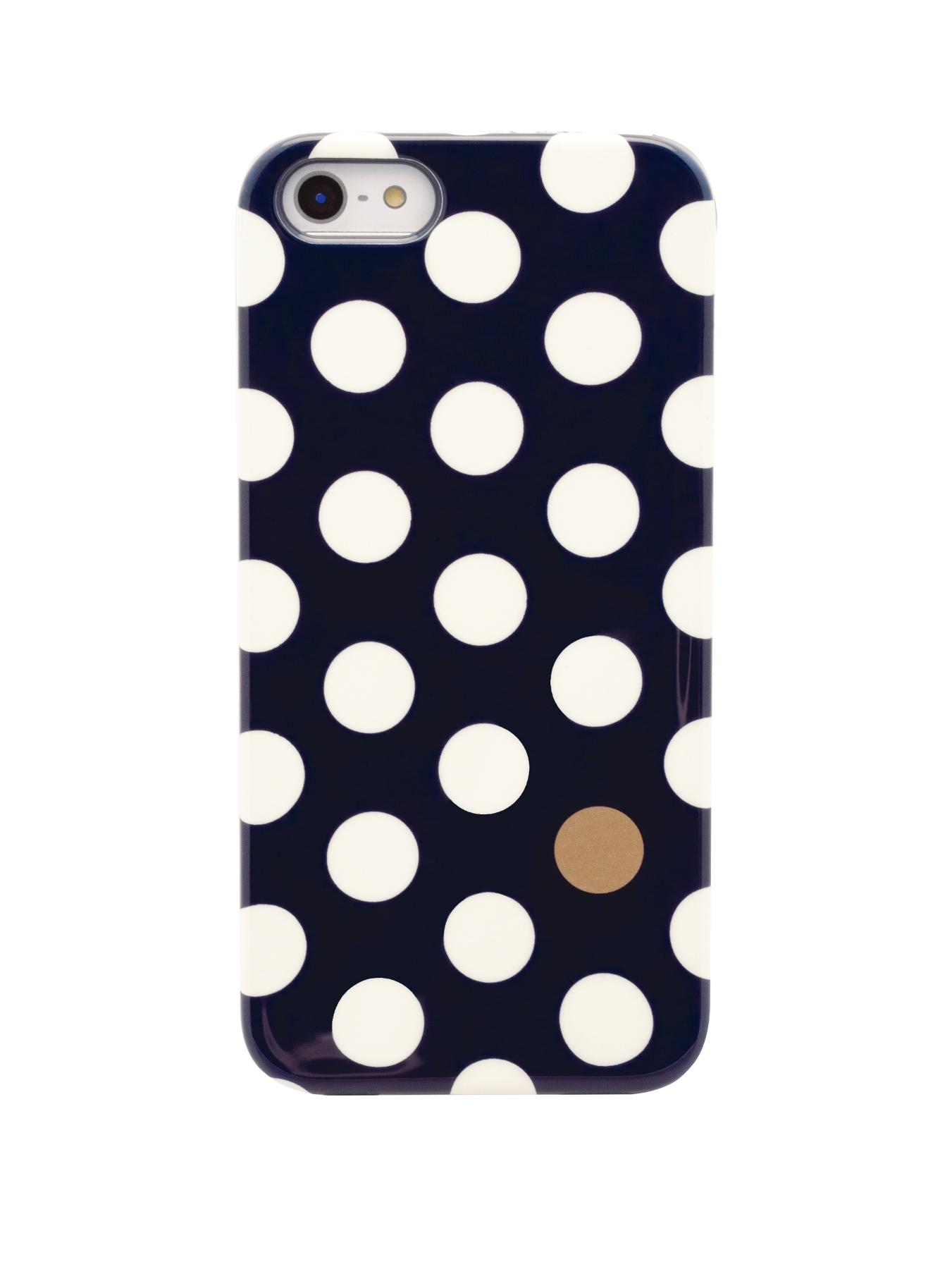 Blue and Gold Spot iPhone 5/5S Case