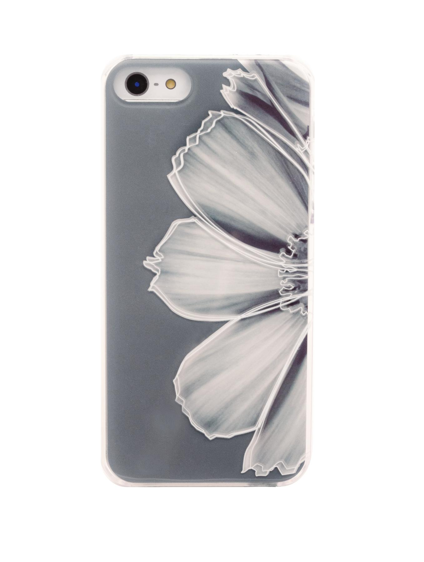2D Grey Flower iPhone 5/5S Case