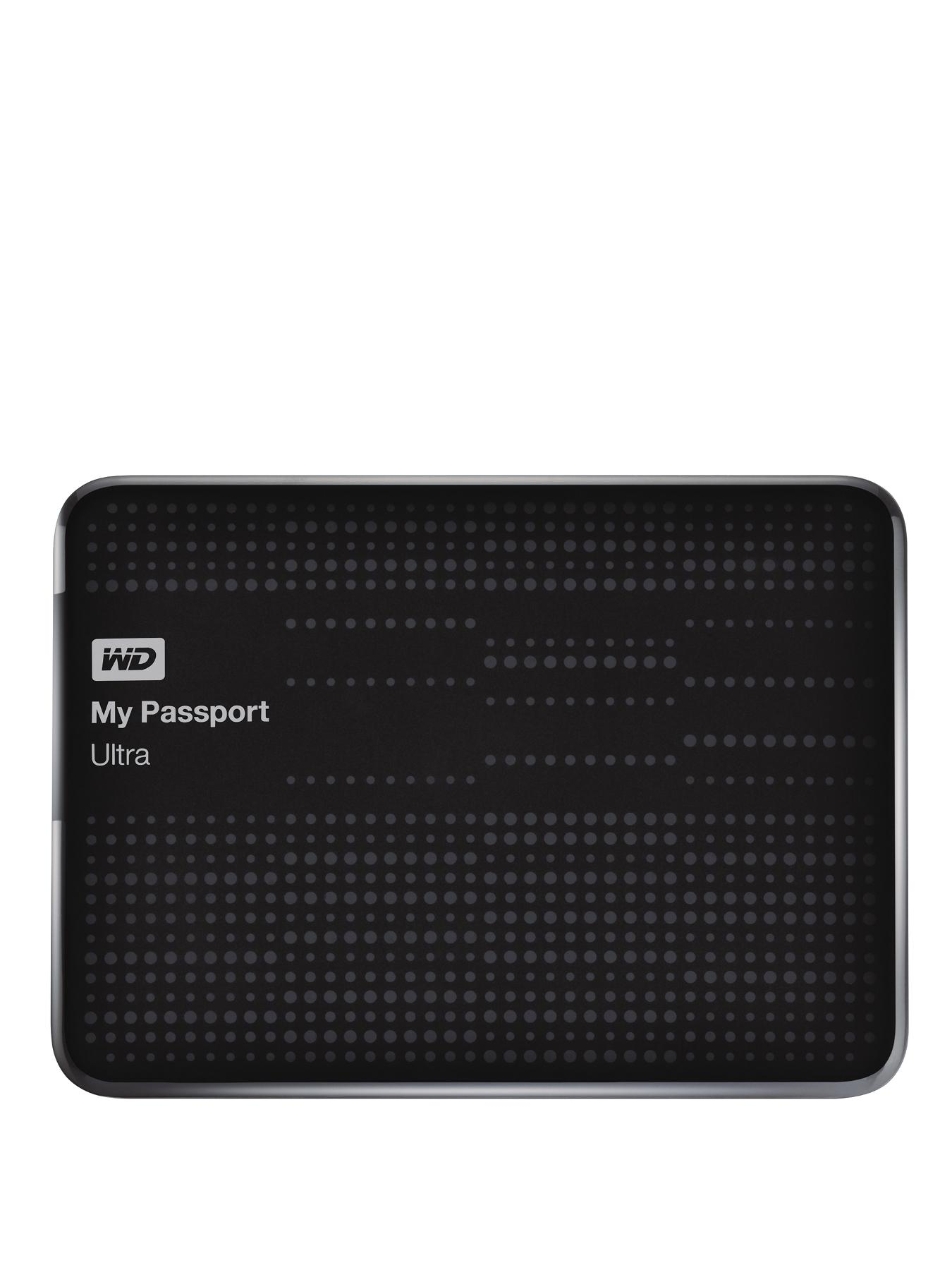 2Tb My Passport Ultra Portable Hard Drive - Black