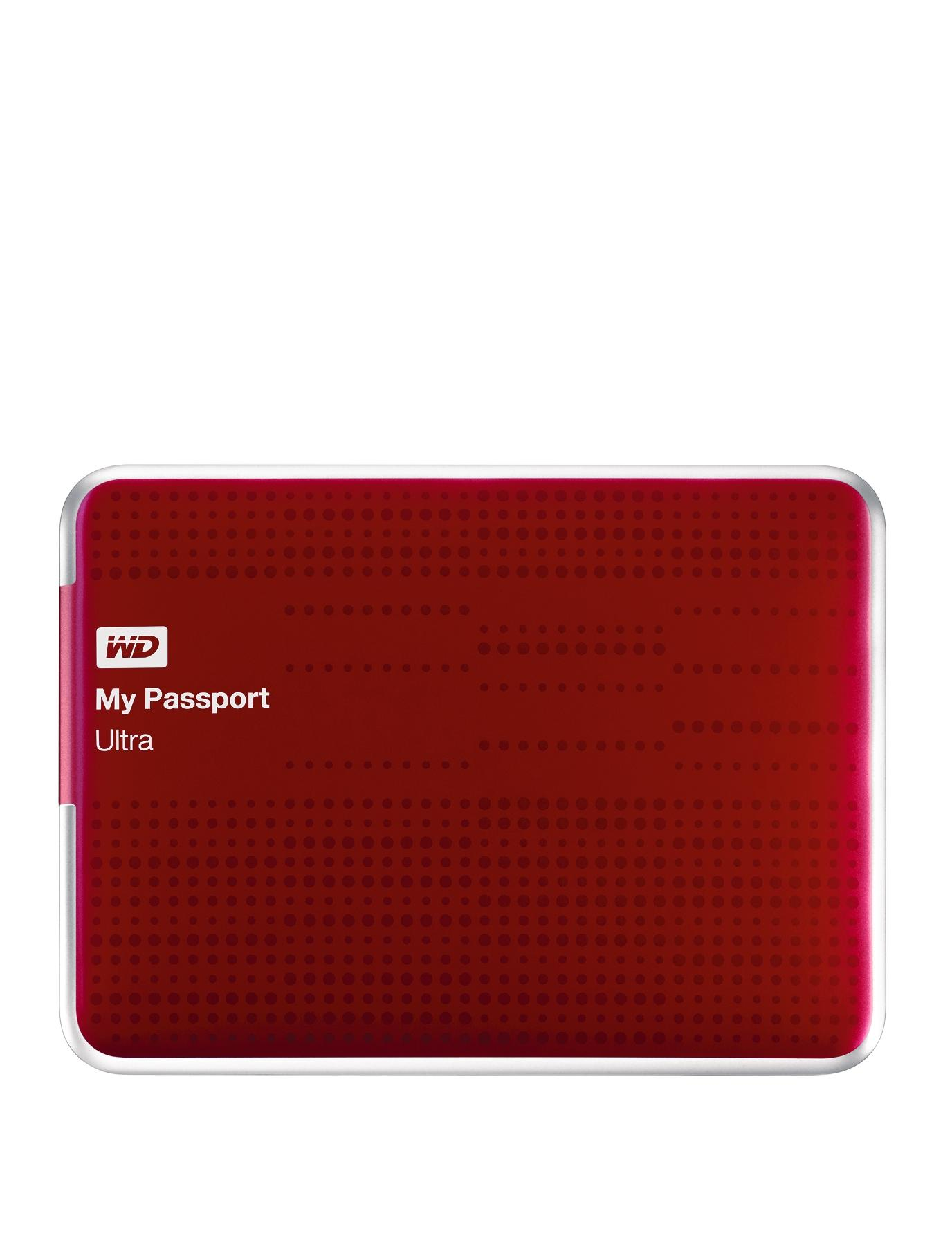 2Tb My Passport Ultra Portable Hard Drive - Red