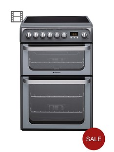 hotpoint-hue61gs-ceramic-double-oven-cooker-graphite