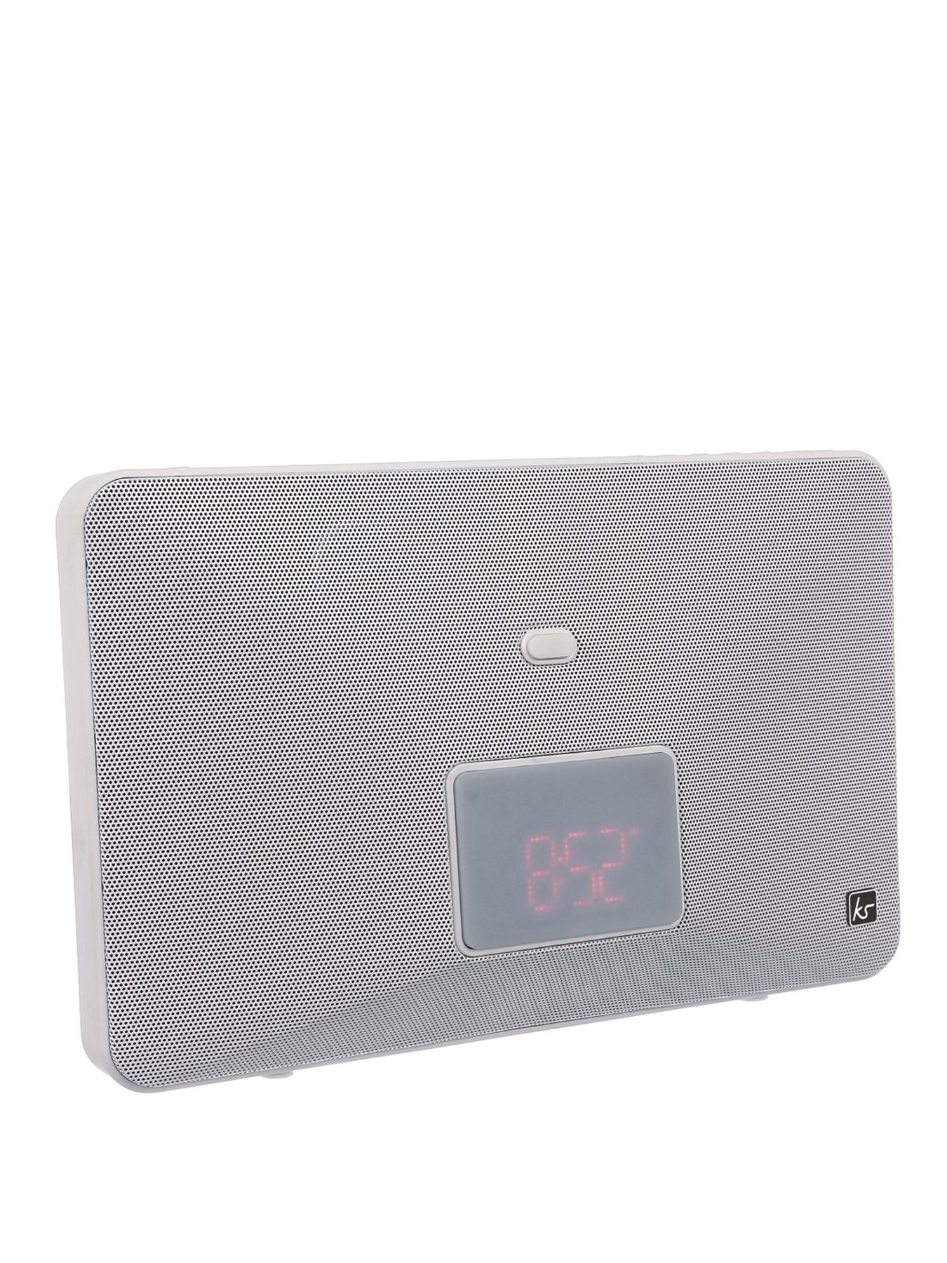 Fresh 8 Pin Lightning Clock Radio Speaker Docking Station - White