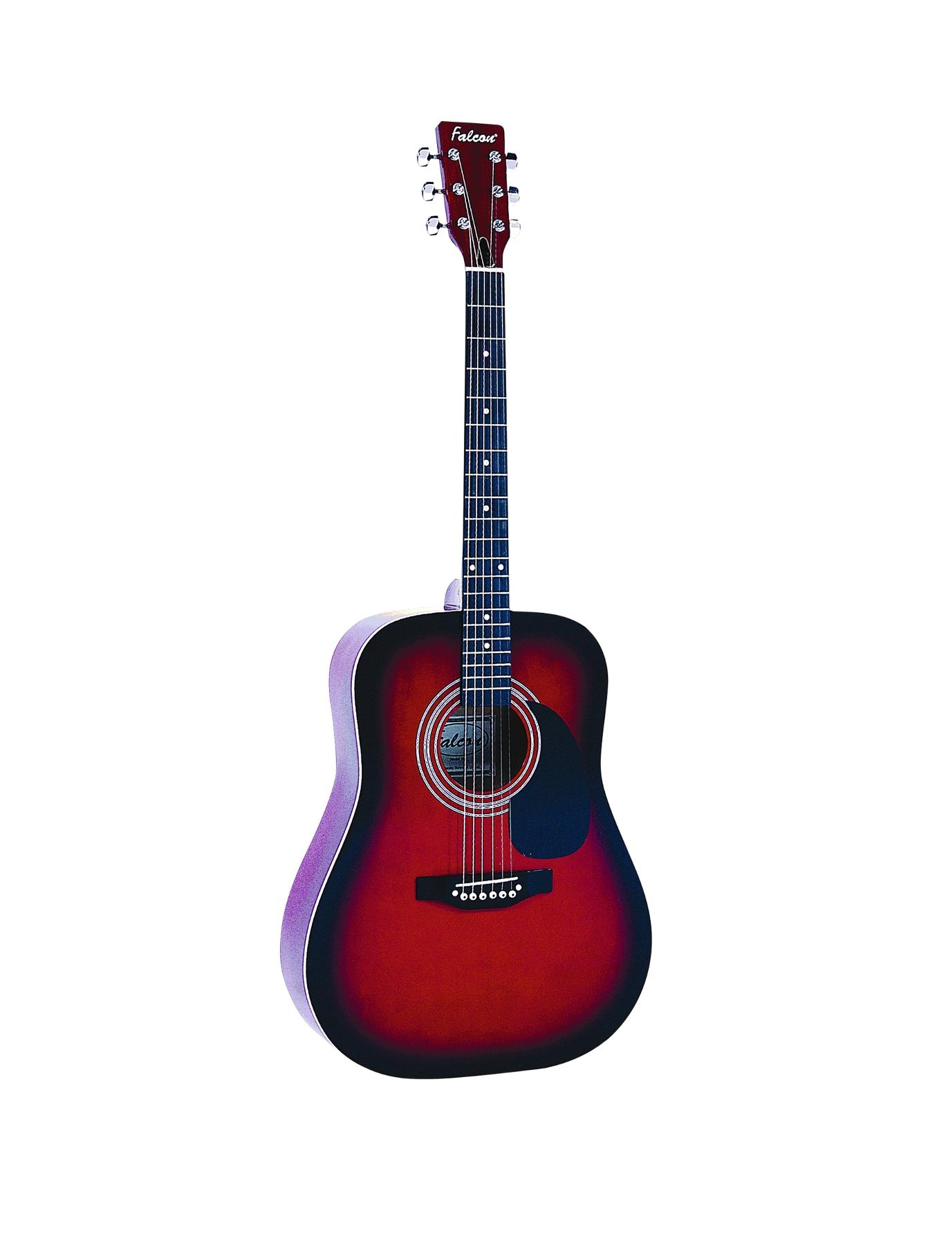 FG100 Dreadnought Acoustic Guitar Musical Instrument - Redburst