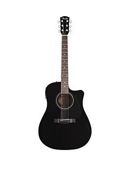 fender-dg60ce-cutaway-electro-acoustic-guitar-musical-instrument-black