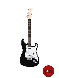 fender-starcaster-sp10-stratocaster-guitar-outfit-musical-instrument-black