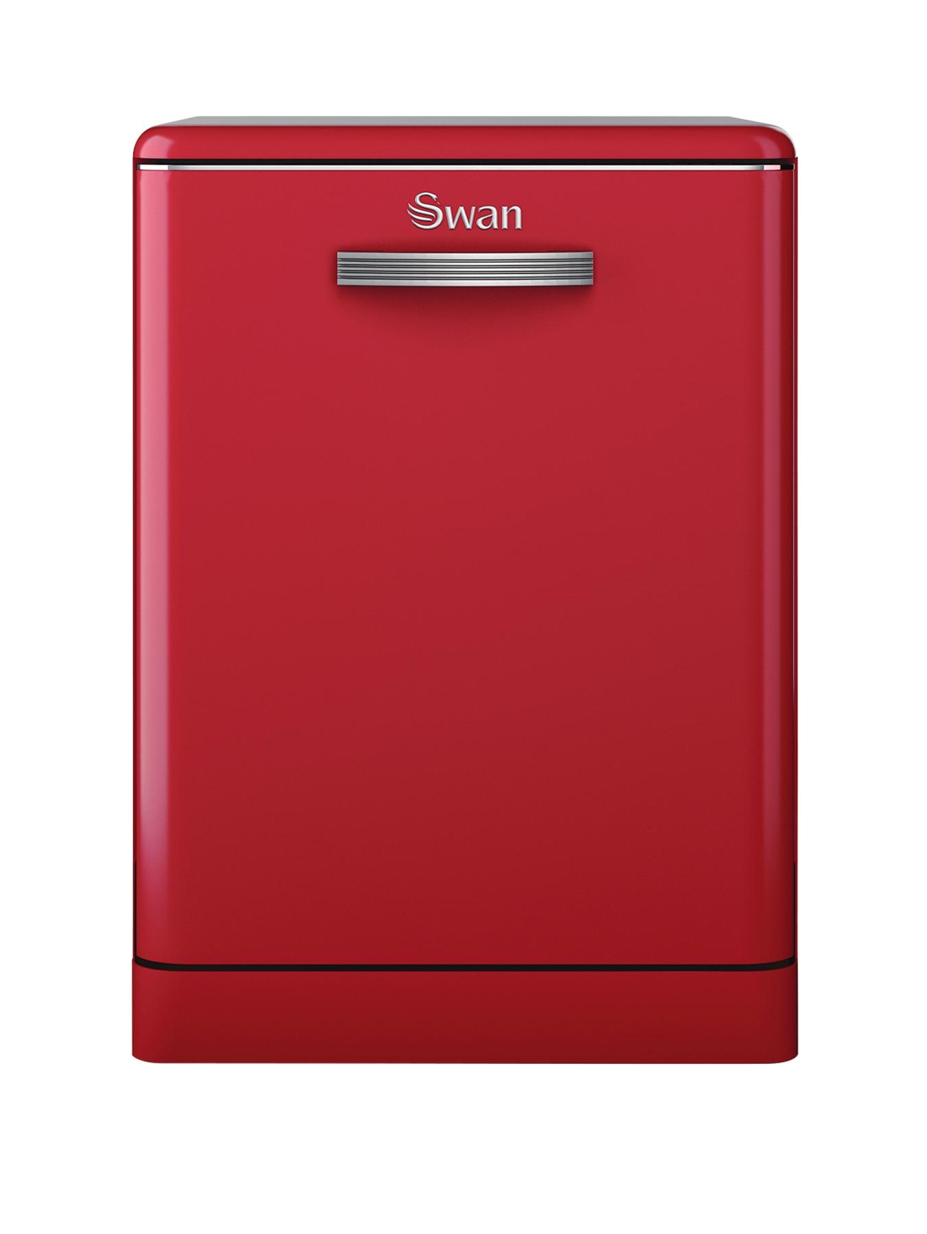 SDW7040RN Retro Dishwasher - Red
