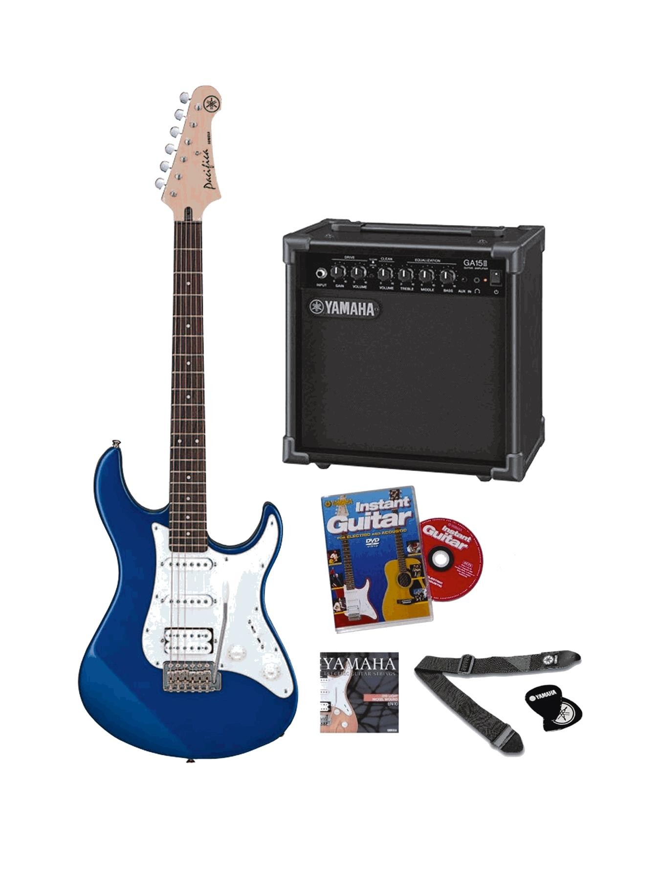 Pacifica Electric Guitar Pack Musical Instrument - Blue.