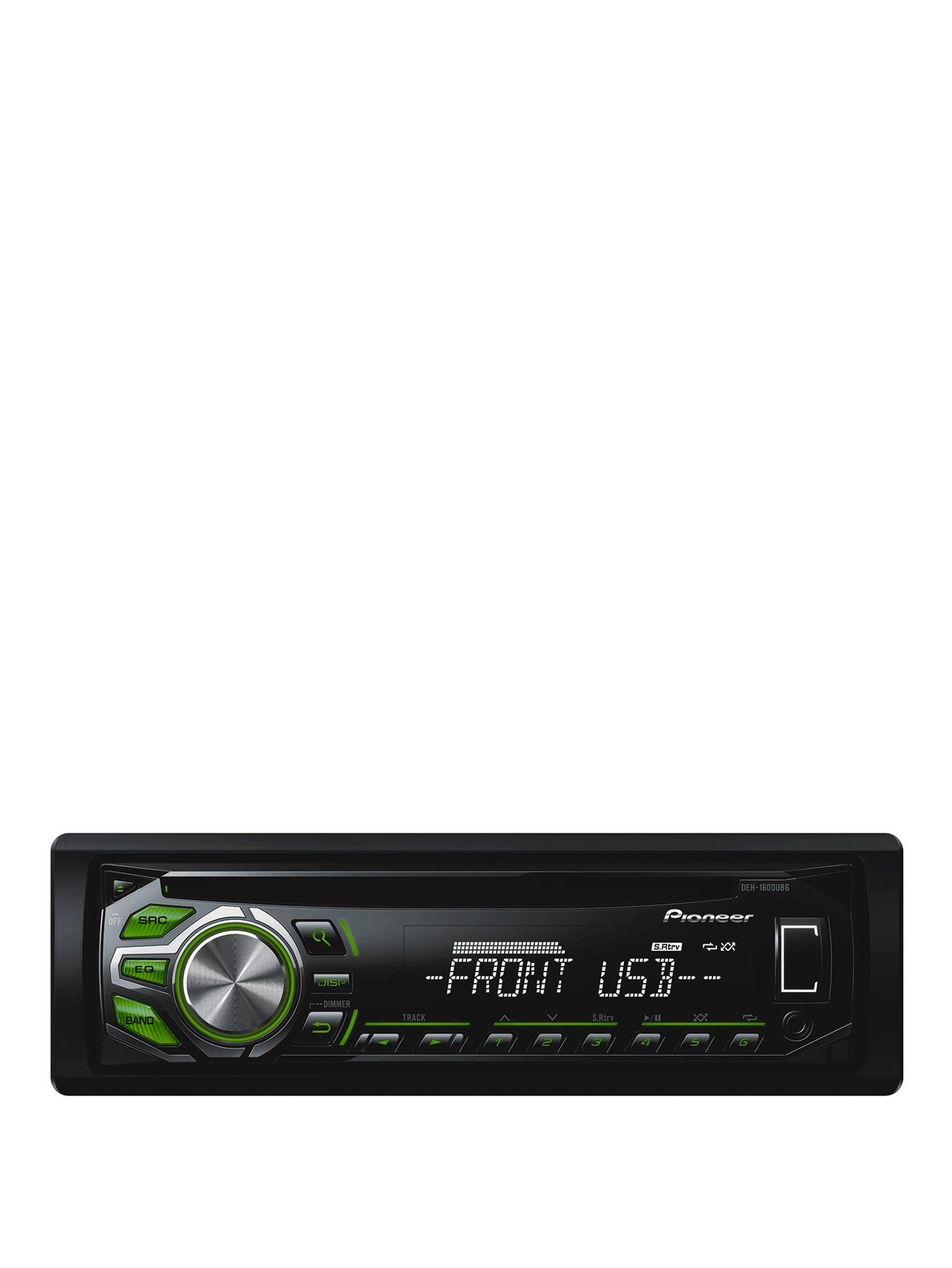 DEH-1600UBG CD Tuner MP3 USB Green and White Display