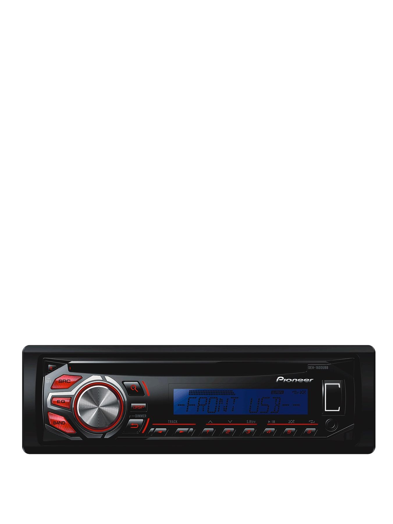 DEH-1600UBB CD Tuner MP3 USB Blue and Red Display