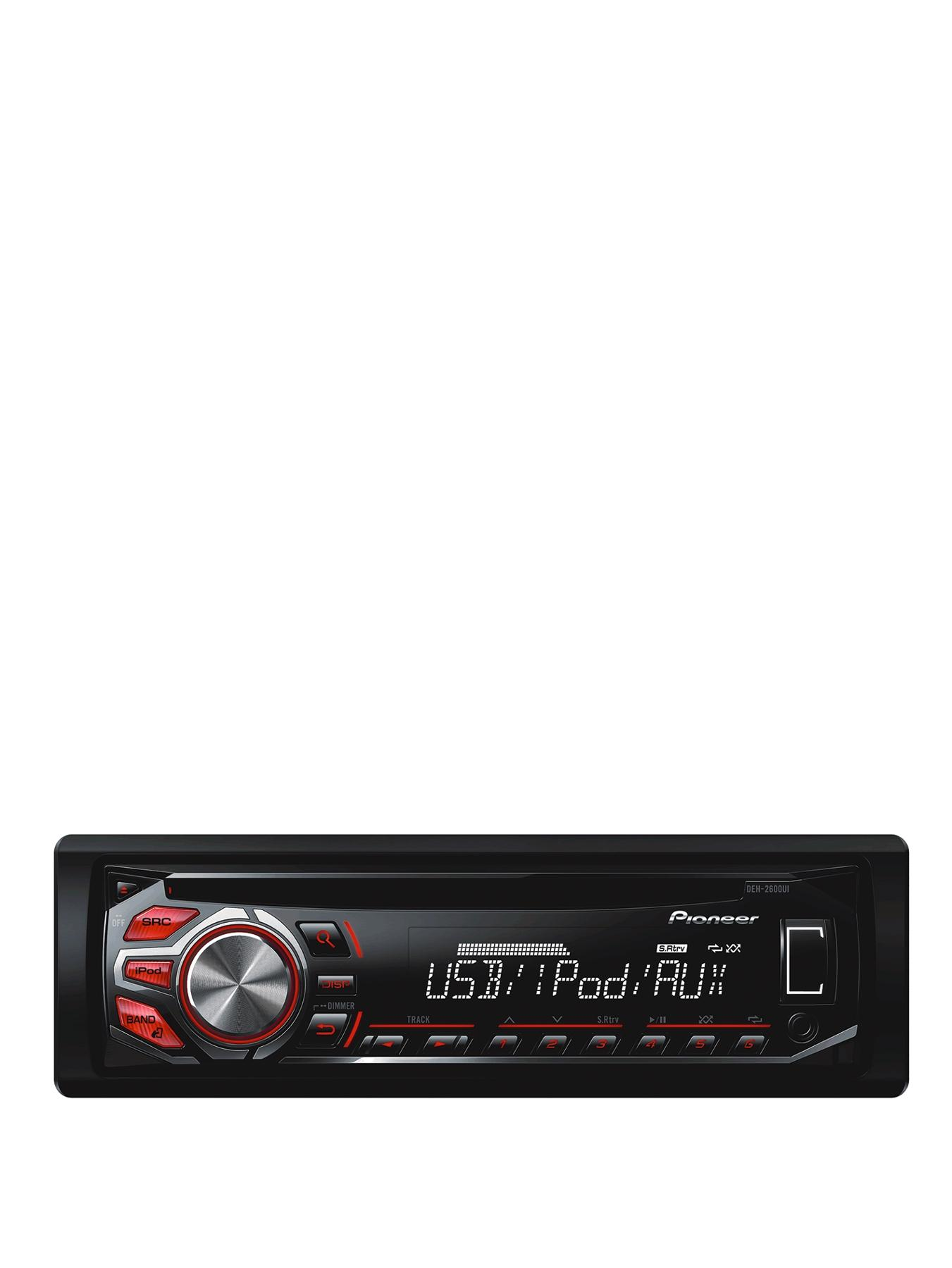 DEH-2600Ui CD Tuner USB iPod/iPHONE Control Red and White Display