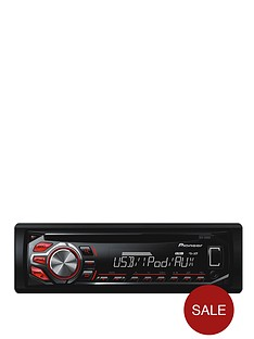 pioneer-deh-2600ui-cd-tuner-usb-ipodiphone-control-red-and-white-display