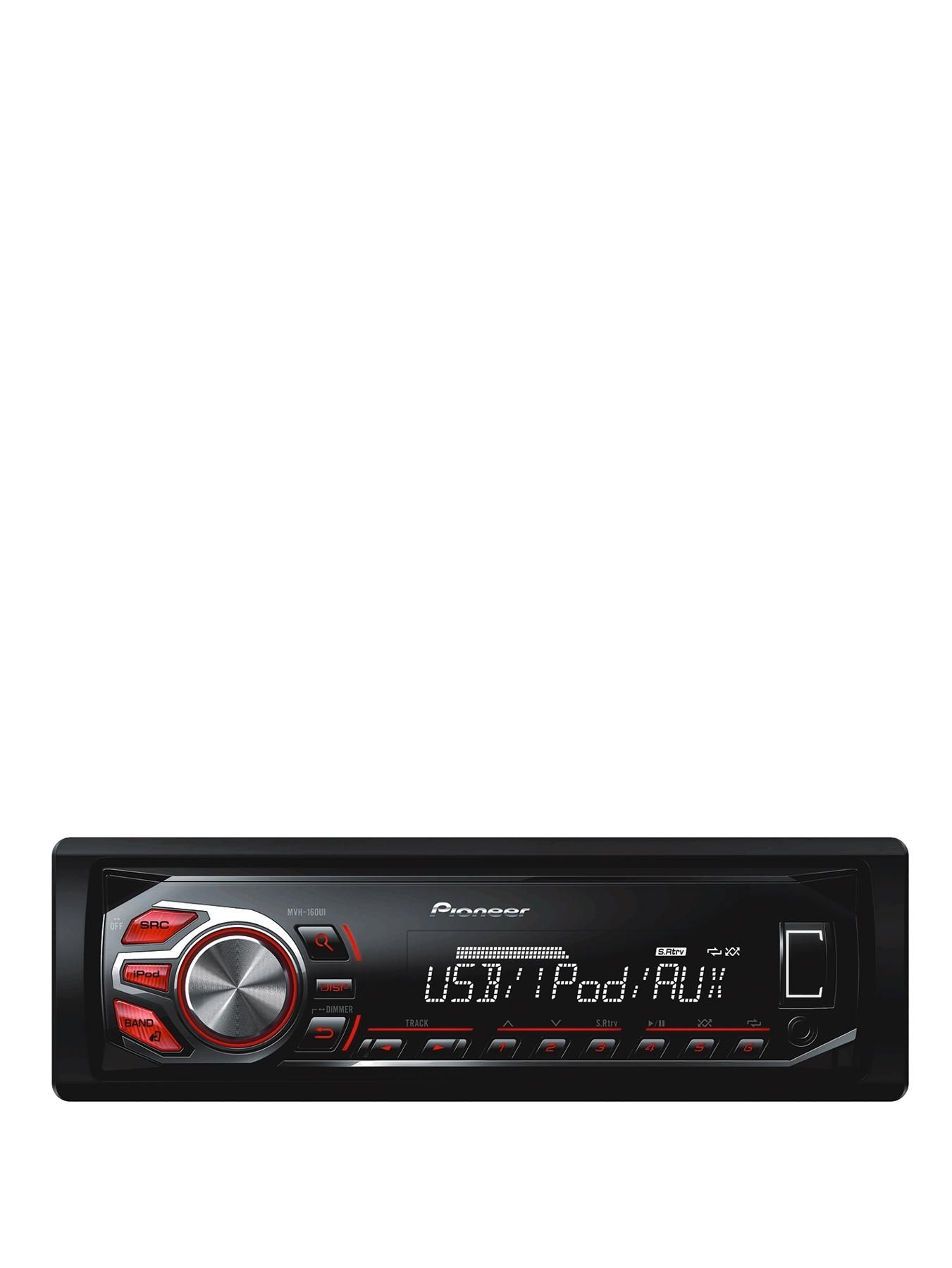 IC (MECH-FREE) FM/AM Tuner USB iPod/iPHONE Control Red and White Display MVH-160Ui