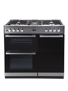 belling-db490dft-90-cm-dual-fuel-range-cooker-stainless-steel