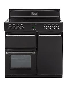 belling-90e-90cm-double-oven-electric-classic-range-cooker-black