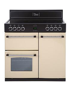 belling-90e-90cm-double-oven-electric-classic-range-cooker-cream