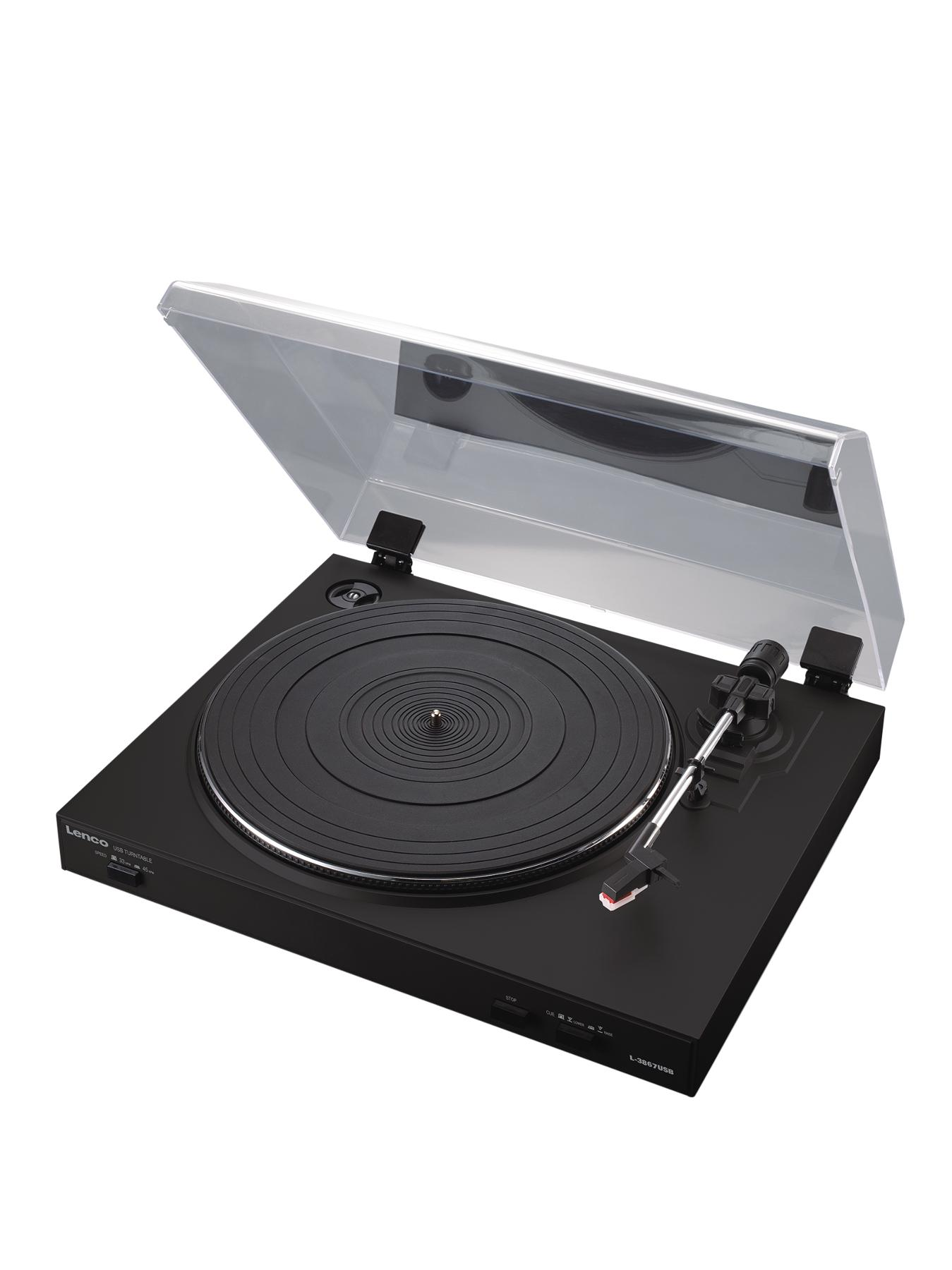 Turntable With Usb Connection- Black