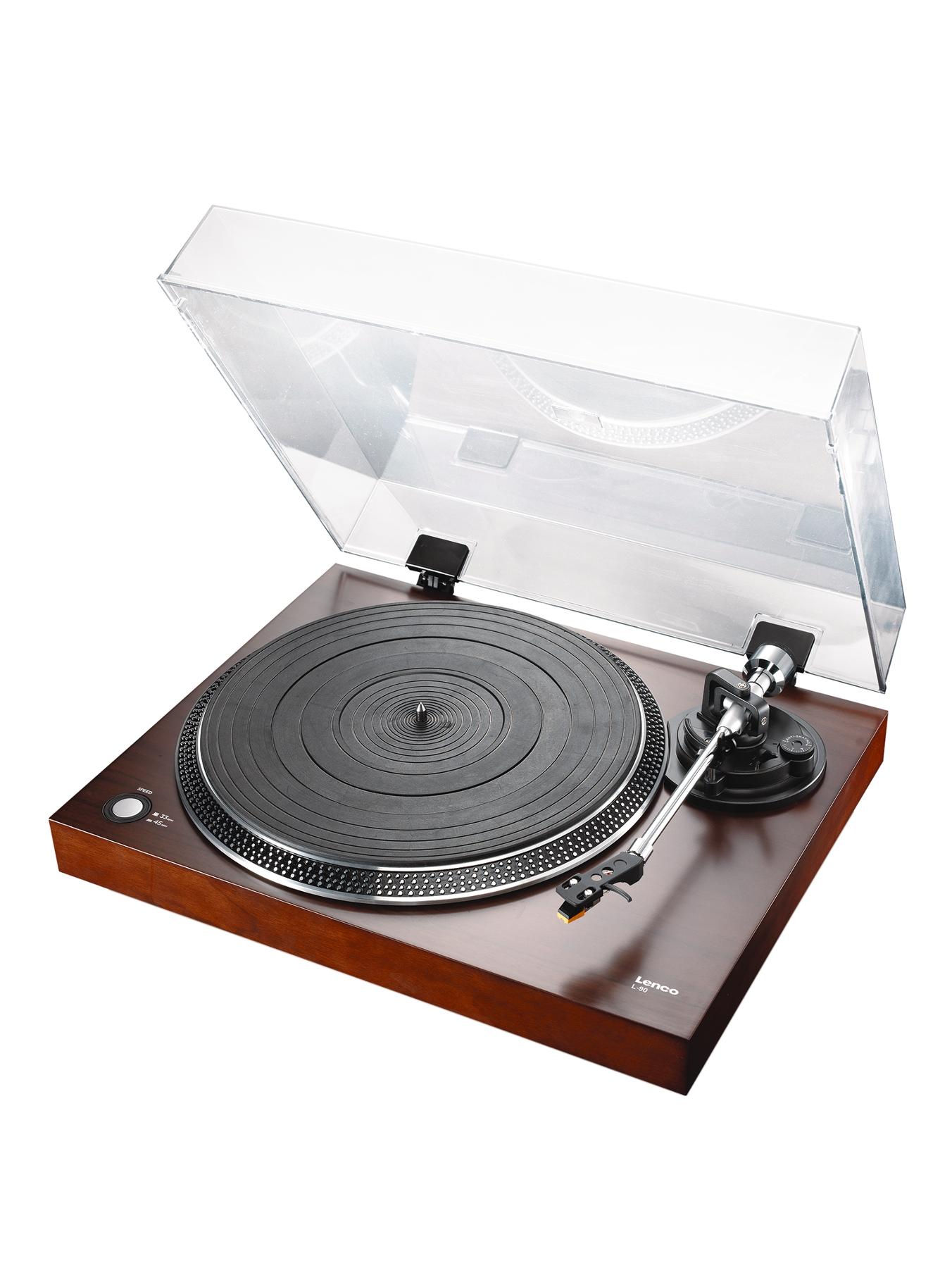 L-90 Turntable with USB and Built-In Pre-Amplifier - Wood