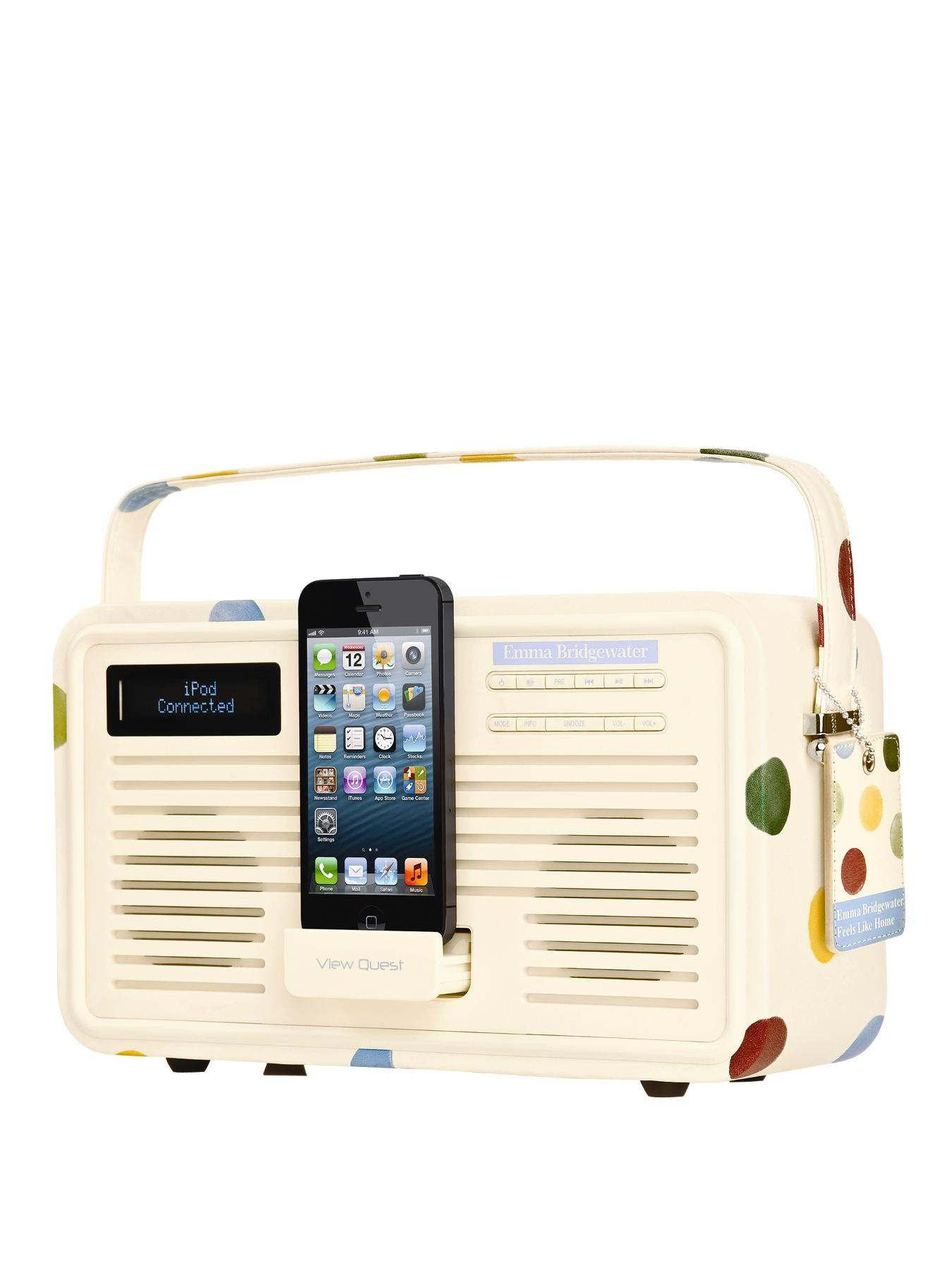 Emma Bridgewater Retro DAB Radio with Lightning Dock - Polka Dot