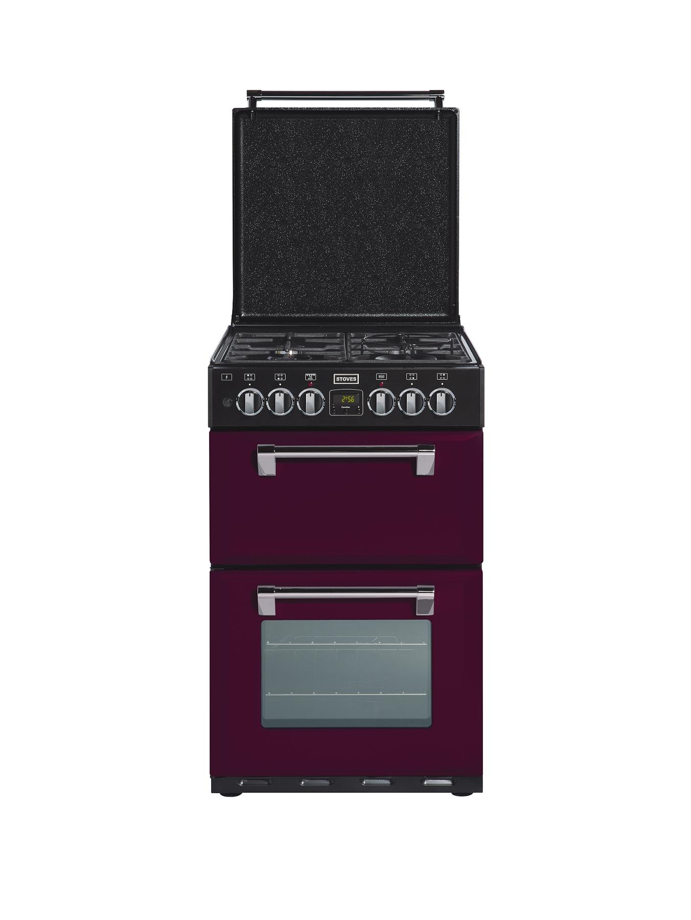 550DFW 55 cm Double Oven Dual Fuel Richmond Mini Range Cooker - Wild Berry