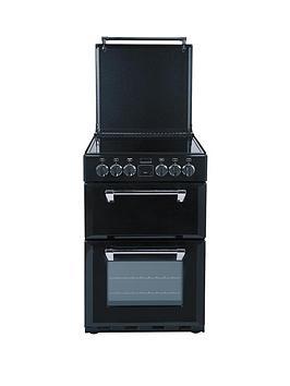 stoves-550e-55cm-double-oven-electric-richmond-mini-range-cooker-black