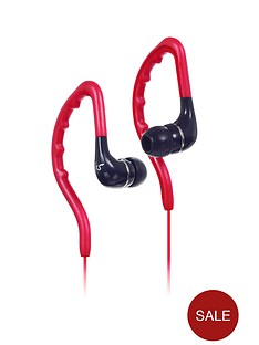 kitsound-enduro-water-resistant-sports-earhook-earphones-red