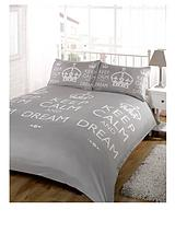 Keep Calm and Dream Duvet Cover Set