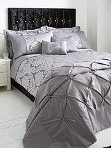 Boston Duvet Cover Set And Pillowcase Set - Silver