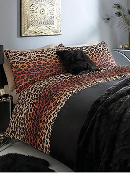 Kenya Duvet Cover Set  Black