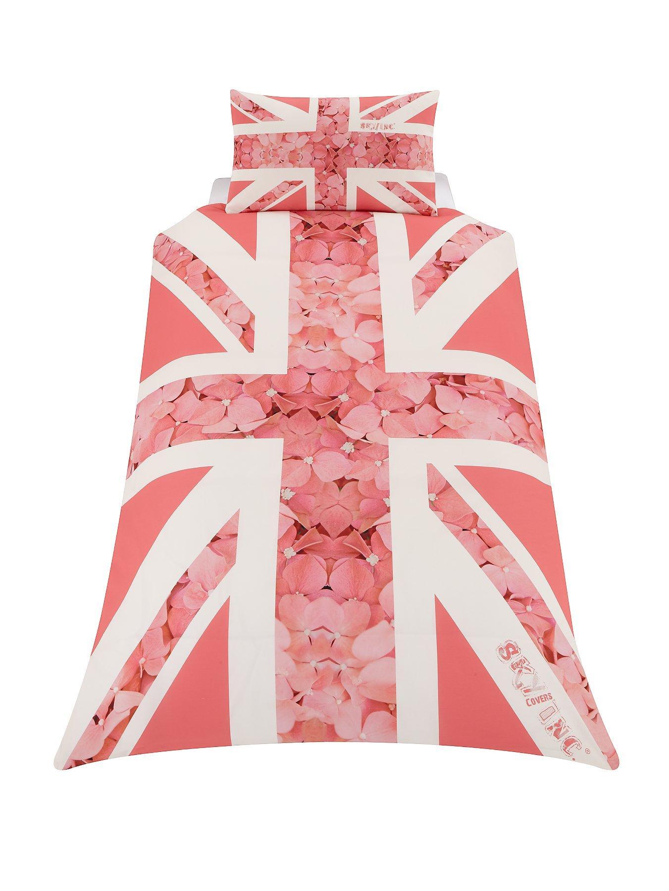 Skycovers Single Pink Union Jack Duvet Set