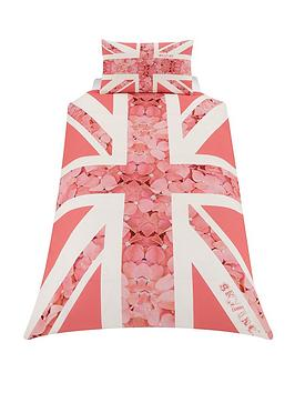 Skycovers Single Pink Union Jack Duvet Cover Set