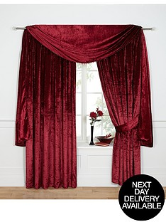 laurence-llewelyn-bowen-venezia-velvet-effect-scarf-pelmet-335-cm-132-inch