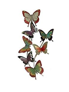 rainbow-butterflies-metal-wall-art