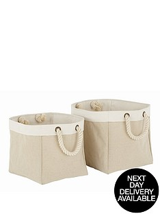 set-of-2-foldable-square-baskets-natural