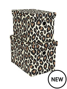 set-of-2-rectangular-animal-print-lidded-boxes-leopard